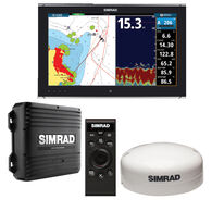 "Simrad NSO evo2 Dual 19"" Multi-Touch Monitor Bundle with OP50 & GS25 GPS Antenna"
