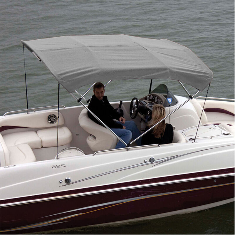 """Shademate Polyester 4-Bow Bimini Top Fabric, 8'L x 54""""H, 61""""-66"""" Wide FABRIC ONLY image number 9"""