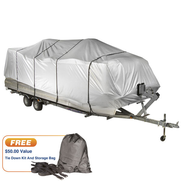 "Covermate HD 600 Pontoon Boat Mooring And Storage Cover, 25'-28'L, 102"" Max Beam"