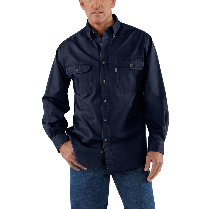 Carhartt Men's Sandstone Twill Long-Sleeve Shirt image number 4