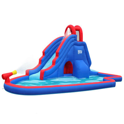 Sunny & Fun Inflatable Water Park with Slide and Water Gun