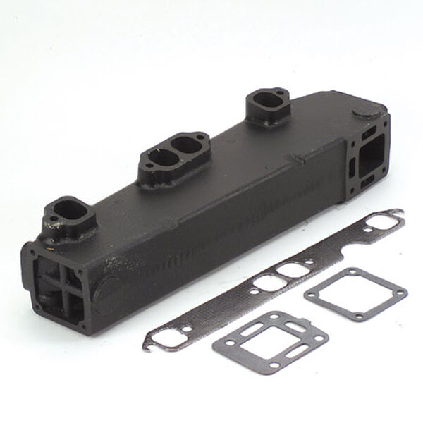Replacement Manifold, Mercruiser V8 Manifold With End Riser, port side