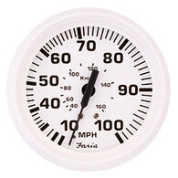 "Faria 4"" Dress White Series Speedometer, 80 MPH"
