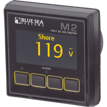 Blue Sea Systems M2 AC Voltmeter OLED Digital Monitor