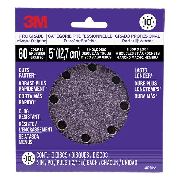 3M Power Tool Sanding Discs, 60-grit