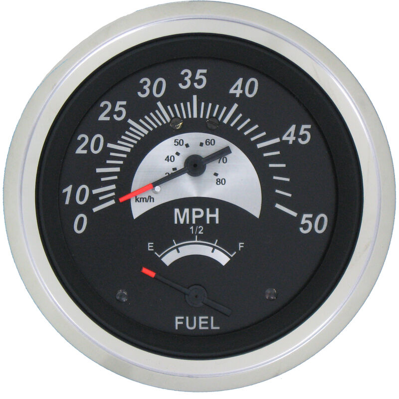 """Sierra Black Sterling 3"""" Speedometer/Fuel Gauge image number 1"""