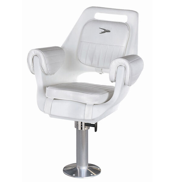 """Wise Deluxe Pilot Chair w/15"""" Fixed Pedestal and Seat Swivel"""