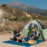 CGEAR Original Sand-Free Outdoor Camping Mat, Blue/Green Large