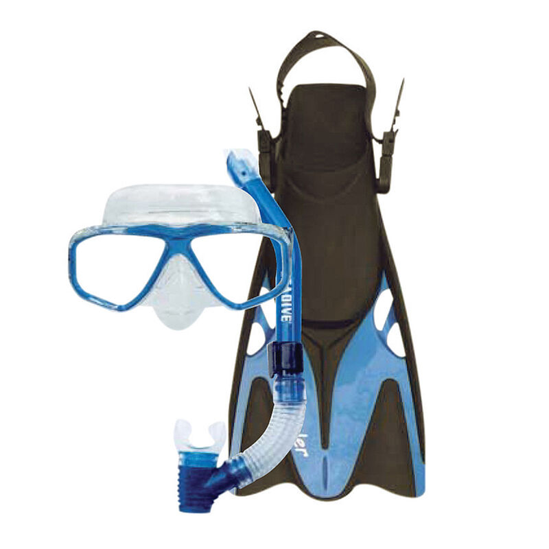 Oceanways Traveler Fin and Caribbean Mask/Snorkel Combo image number 3
