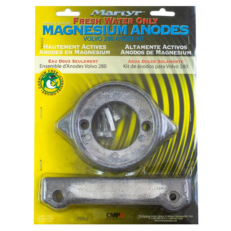 Martyr Volvo Penta Anode Kit for 280 HP Engines - Magnesium image number 1