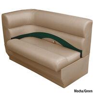 Toonmate Premium Pontoon Right-Side Corner Couch w/Mocha Base