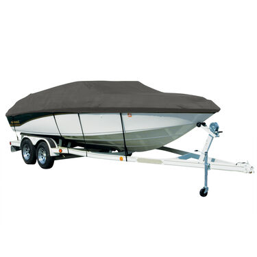 Covermate Sharkskin Plus Exact-Fit Cover for Princecraft Pro Fishing Series 186  Pro Fishing Series 186 W/Port Troll Mtr O/B