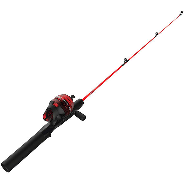 """Zebco Dock Demon Spinning Combo, 30"""" Rod, Red"""
