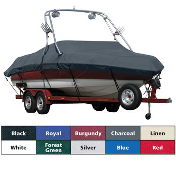 Sharkskin Boat Cover For Sea Ray 240 Sundeck W/Xtreme Tower Rear Facing