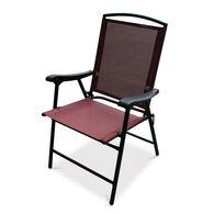 Folding Sling Chair, Marsala Red