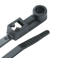 """Ancor 8"""" Black Self-Cutting Mountable Cable Ties, 500-Pack"""