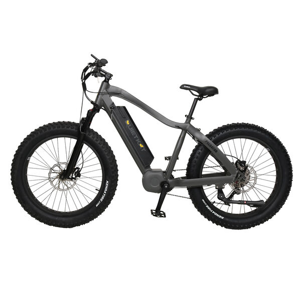 "QuietKat Predator 750-Watt Electric Mountain Bike 19"", Charcoal"