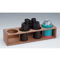 SeaForce Teak Four Insulated Drink/Binocular Rack
