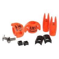 "AMS Bowfishing EverGlide Safety Slides for 5/16"" Arrow, Orange, 2-Pack"