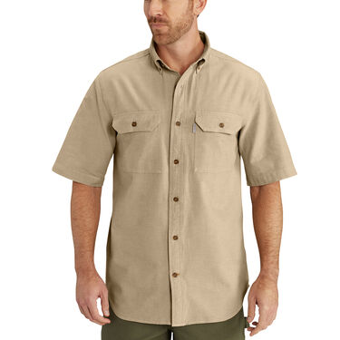 Carhartt Men's Fort Solid Chambray Short-Sleeve Shirt
