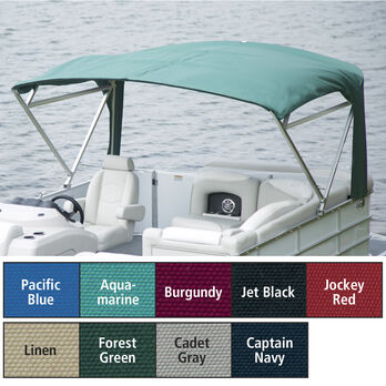 "Buggy Style Pontoon Bimini Top Sunbrella Acrylic, 1"" Free Standing, 90""-96"" Wide"