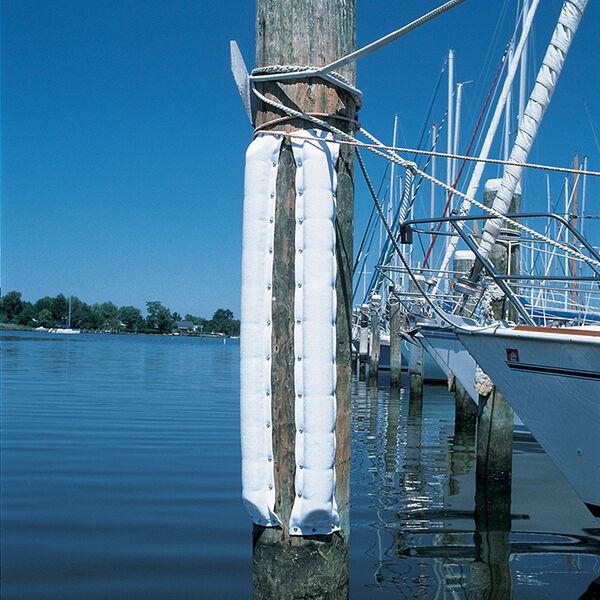 """Double Dock Bumper (Small 5-1/2""""W x 1-1/4"""" D)White 4'"""