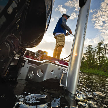 "Minn•Kota Talon Shallow Water Anchor - 6'4"", Silver/White"