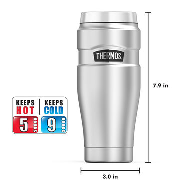 Thermos Stainless King 16-Oz. Vacuum-Insulated Stainless Steel Travel Tumbler