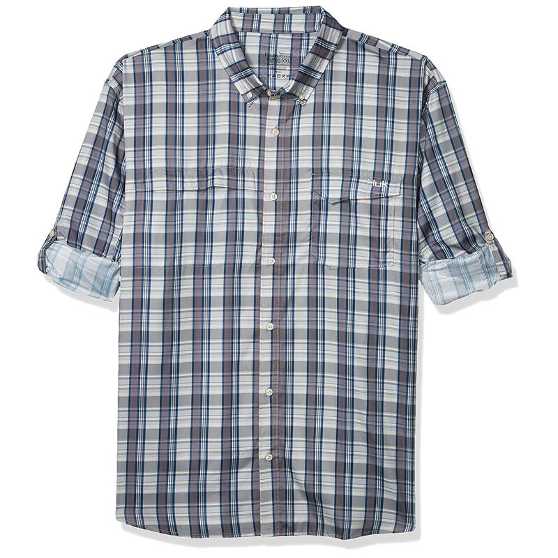 Huk Men's Tide Point Woven Plaid Long Sleeve image number 3