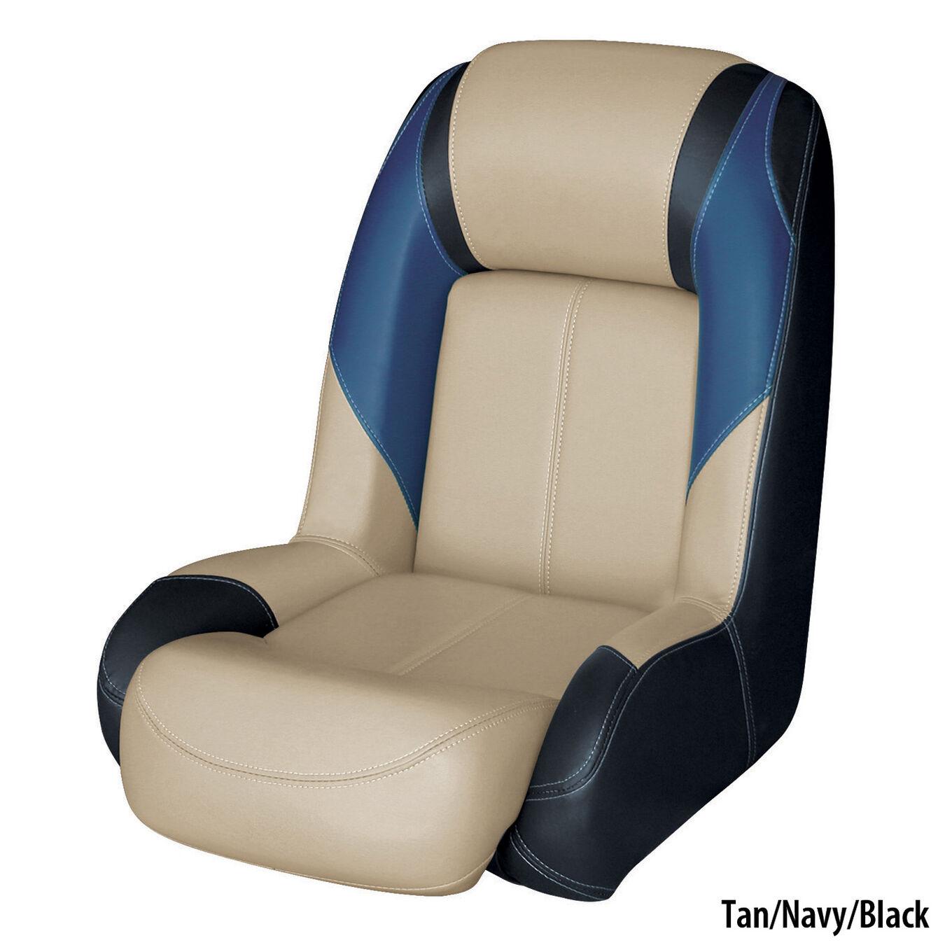 Waterside/High Back Pro Bootssitz Boat Seat Blueline