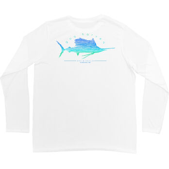 Guy Harvey Men's Sailfish Scribble Performance Pro UVX Short-Sleeve Tee