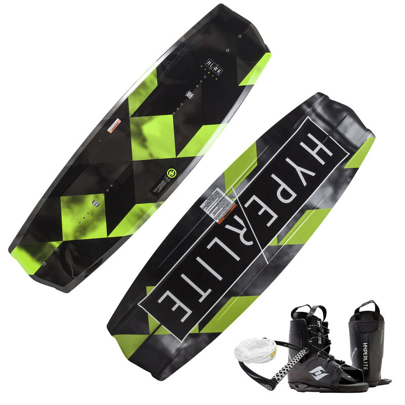 Hyperlite State 2.0 Wakeboard With Frequency Bindings, Handle, And Rope 2019 image number 1
