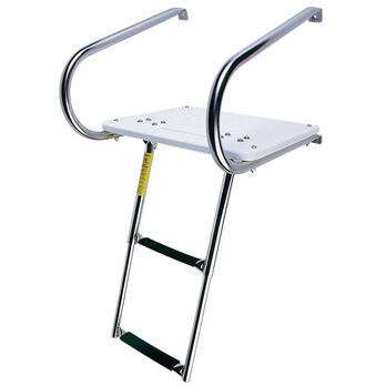 EEz-In Inboard/Outboard Transom Platform with Two-Step Telescoping Ladder