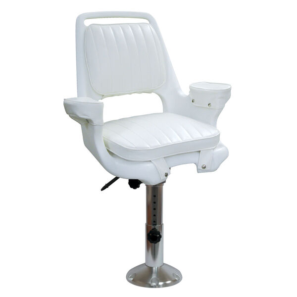 Wise Captain's Chair With Adjustable Pedestal, Slide Mounting Plate
