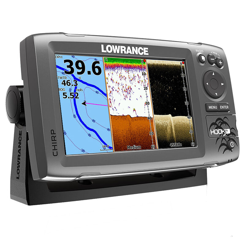 Lowrance HOOK-7 CHIRP DSI Fishfinder Chartplotter With Lake Insight Cartography image number 2