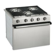 """Dometic R31 17"""" 3-Burner Oven Range, Stainless Steel, Wire Grate"""