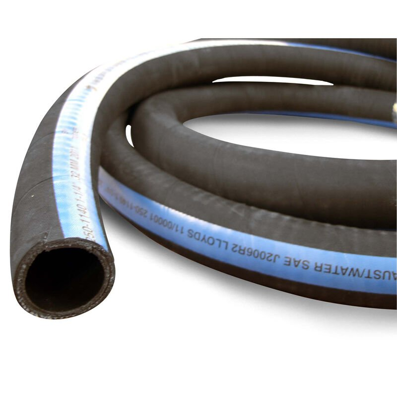 """Shields ShieldsFlex II 4"""" Water/Exhaust Hose With Wire, 6-1/4'L image number 1"""