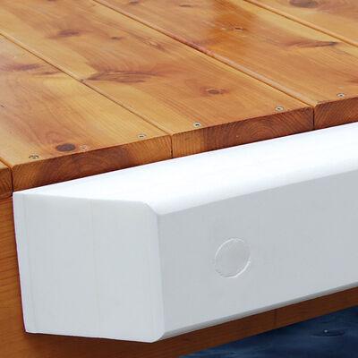 Dock Cushion White Straight