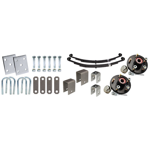 """Tie-Down 3"""" Tandem Axle Installation Kit With Painted Hub"""