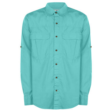 Nepallo Men's Trophy Fishing Cotton Long-Sleeve Shirt