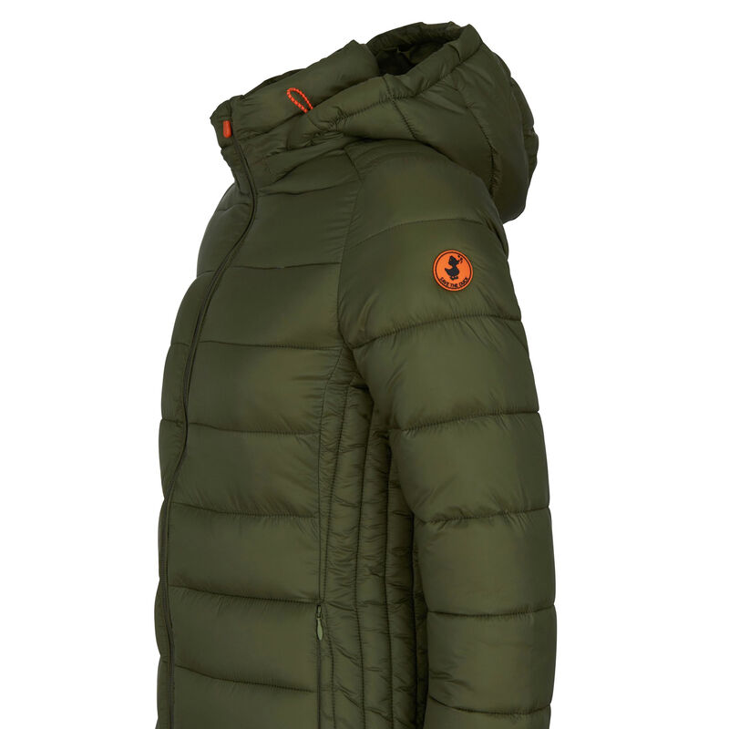 Save The Duck Women's Giga Long Quilted Winter Coat image number 6