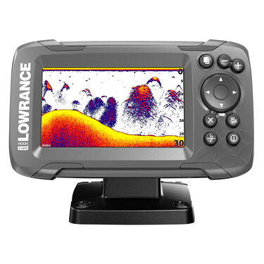 Lowrance HOOK2 4x Fishfinder w/Bullet Skimmer Transducer and GPS Plotter