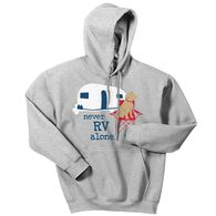 Dog is Good Unisex Never RV Alone Hoodie, Medium