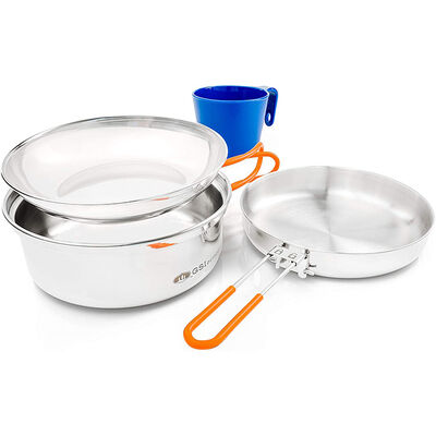 GSI Outdoors Glacier 1-Person Stainless Mess Kit