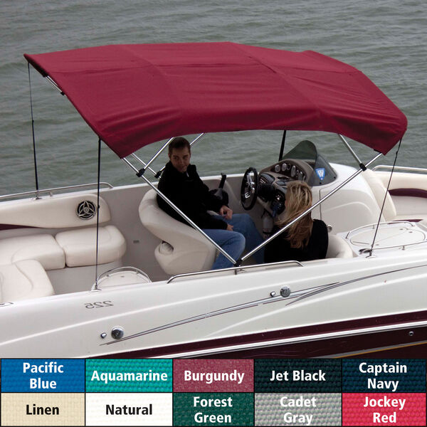 """Shademate Bimini Top Sunbrella Fabric and Boot Only, 3-Bow 6'L, 36""""H, 85""""-90""""W"""