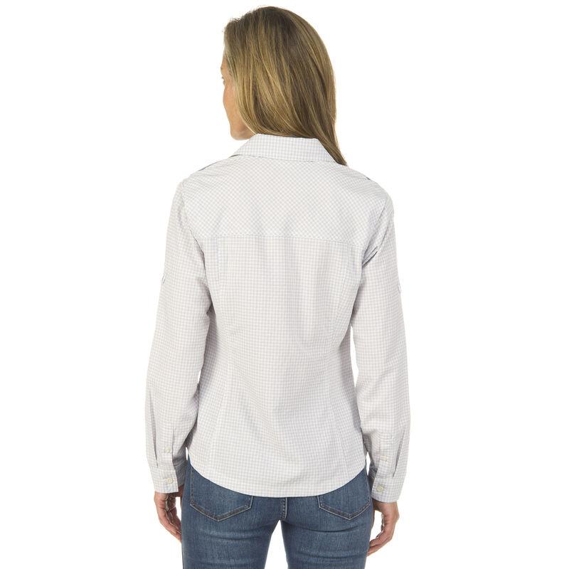 Ultimate Terrain Women's Trailhead Bug Repel Long-Sleeve Plaid Shirt image number 9