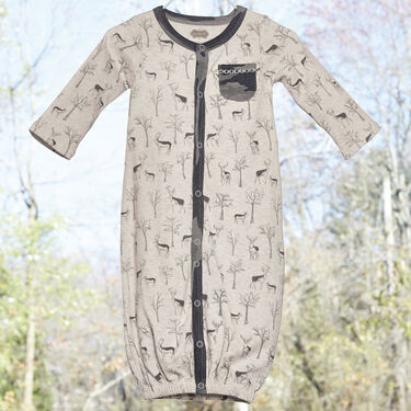 Mud Pie Infant Boys' Forest Deer Print Convertible Gown