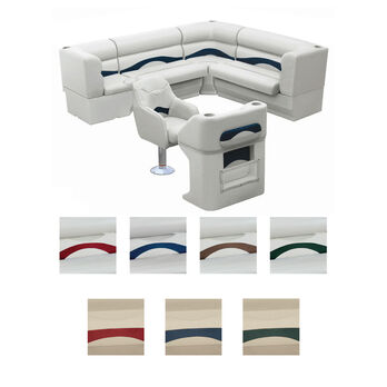 Toonmate Premium Pontoon Furniture Package, Complete Rear L Group