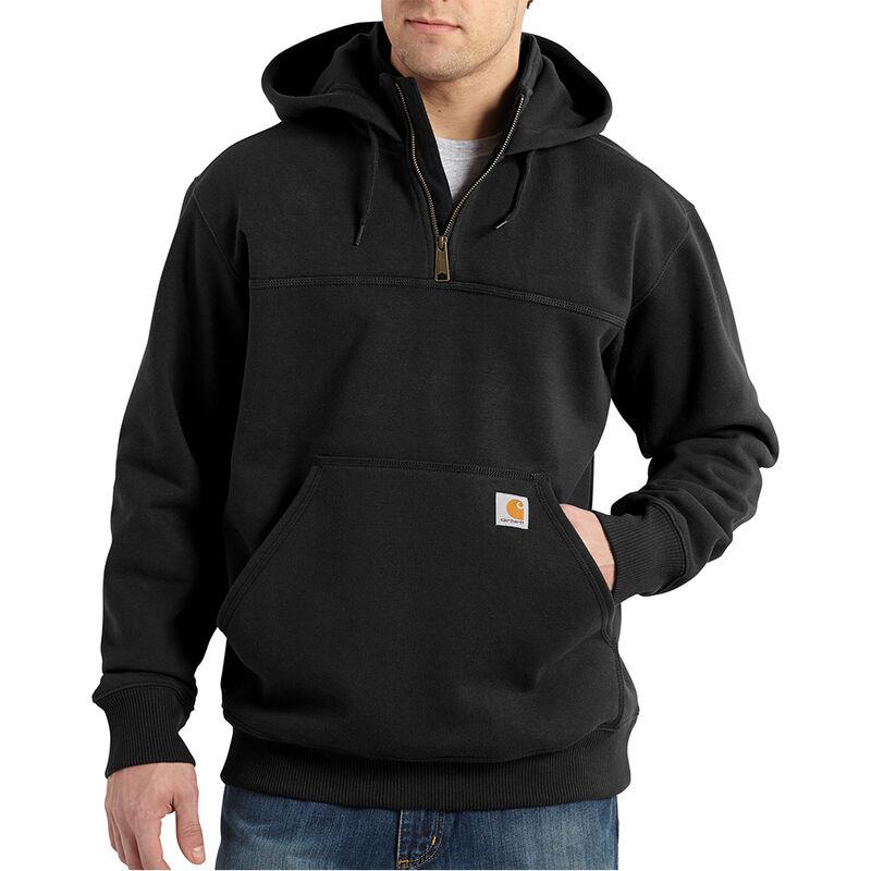 Carhartt Men's Rain Defender Paxton Heavyweight Hooded Zip Mock Sweatshirt image number 1