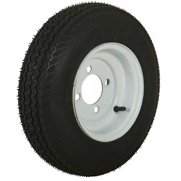 Tredit H188 4.80 x 8 Bias Trailer Tire, 4-Lug Standard White Rim